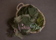 Oval  Basket  Bundle ~ green knitted set
